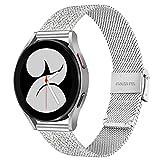 TRUMiRR Sostituzione per Samsung Galaxy Watch 42mm/Galaxy Watch Active/Gear Sport Cinturino, 20mm Cinturino Orologio in Maglia Intrecciata in Maglia Bracciale per Garmin Vivoactive 3/3 Music