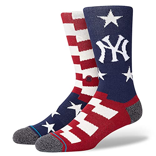 Stance Men's MLB New York Yankees Brigade NY 2 Socks Blue L