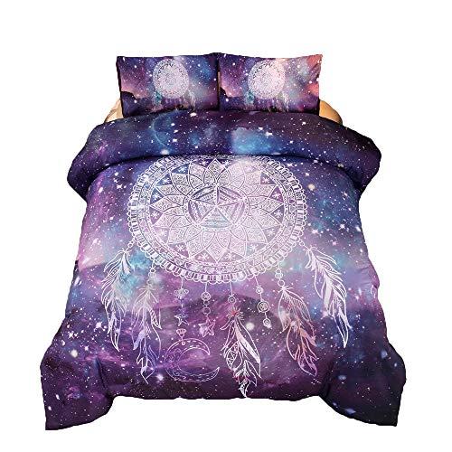 W.Z.H.H.H Bettbezug Mythische Tiere Unicorn Galaxy Tröster Set Queen-Size-Öldruck Weltraum Bettwäsche-Sets Unicorn Bettwäsche (Color : Wind Chimes, Size : 150 * 200)