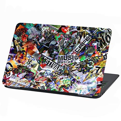 Laptop Folie Cover Abstrakt Klebefolie Notebook Aufkleber Schutzhülle selbstklebend Vinyl Skin Sticker (15 Zoll, LP21 Stickerbomb)