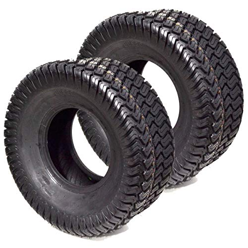 Replaces John Deere 2PK 4PLY Tubeless 16x6.50-8 Turf Tires Compatible with Kubota, Toro, Scag, Wright Lawn Mower Tractor Rider