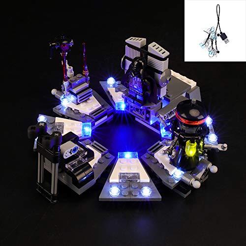 QJXF USB-Licht-Satz Kompatibel Mit Lego Star Wars Darth Vader Transformation 75183, LED-Licht-Kit Für Bausteine Model (Nicht Im Lieferumfang Enthalten Modell)