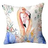 COPAUL Flamingo Kissenbezug 45 cm Kissenbezug Dekoration 18 Zoll Outdoor Auto Kissenbezug Glück