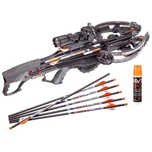 RAVIN Crossbow R29 430 FPS Sniper Crossbow Package - Predator Dusk Camo Crossbow Serving and String Fluid