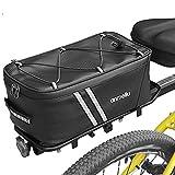 Lixada Bike Trunk Bag 7L/12L Bicycle Commuter Bag Waterproof Bike Rear Rack Bag with Rain Cover
