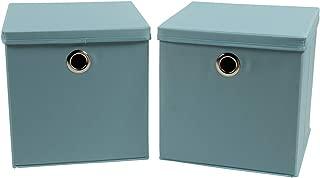 Bothwin Fabric Storage Boxes, Foldable Storage Cubes with Lid Fabric Storage Basket Bins(12