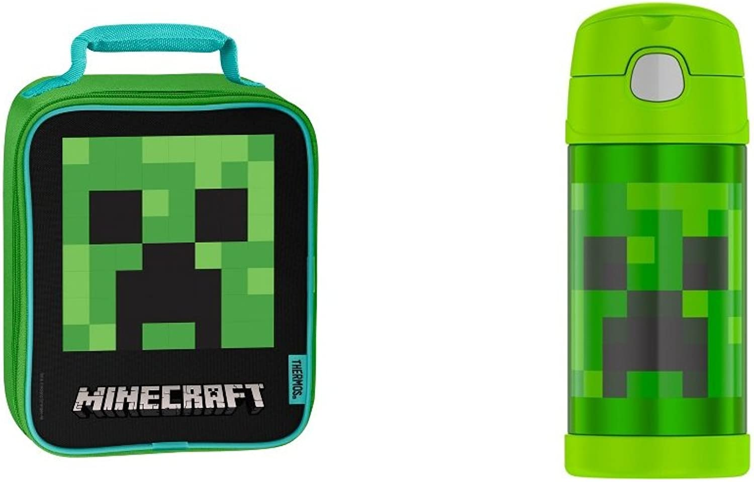 Thermos Insulation Lunch Box and Travel Bottle  Minecraft