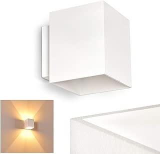 L/ámpara de techo Motola ideal para dormitorio 3 x 10,5 vatios con regulador de color RGB y mando a distancia 705 l/úmenes 2700-5000 Kelvin de metal y cristal en n/íquel mate