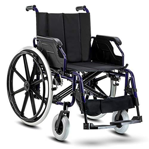 KosmoCare Elegant Heavy Duty Heavy Duty Premium Aluminium Self Propelled Model Ideal for Heavy patients