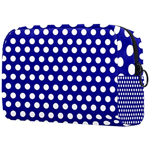 Bolsa de maquillaje con cremallera con timón náutico para mujer, bolsa de aseo de viaje, organizador de cosméticos