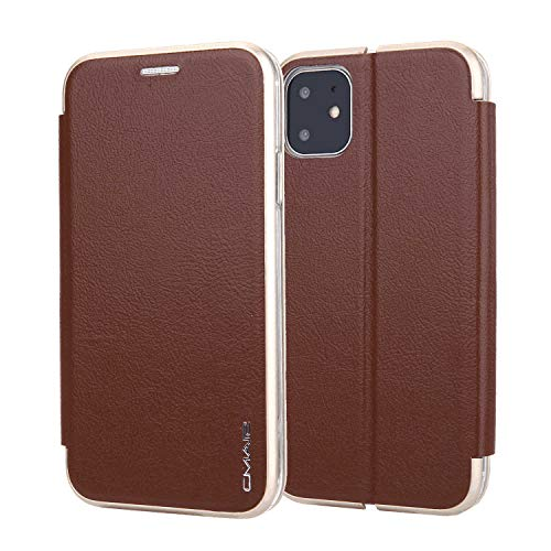 Great Deal! Leather Cover Compatible with iPhone XS, Kickstand Card Holders Premium coffee Wallet Ca...