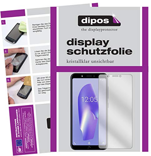 dipos I 6X Schutzfolie klar kompatibel mit BQ Aquaris C Folie Bildschirmschutzfolie