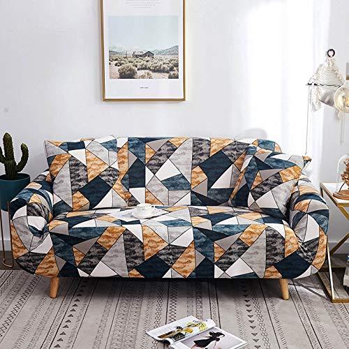 WXQY Estiramiento elástico de Funda de sofá geométrica para Funda de sofá de Silla Moderna, Funda Protectora de Muebles de Sala A11 1 Plaza