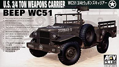 WC51 3/4-Ton 4x4 Weapons Carrier US Jeep 1-35 AFV Club