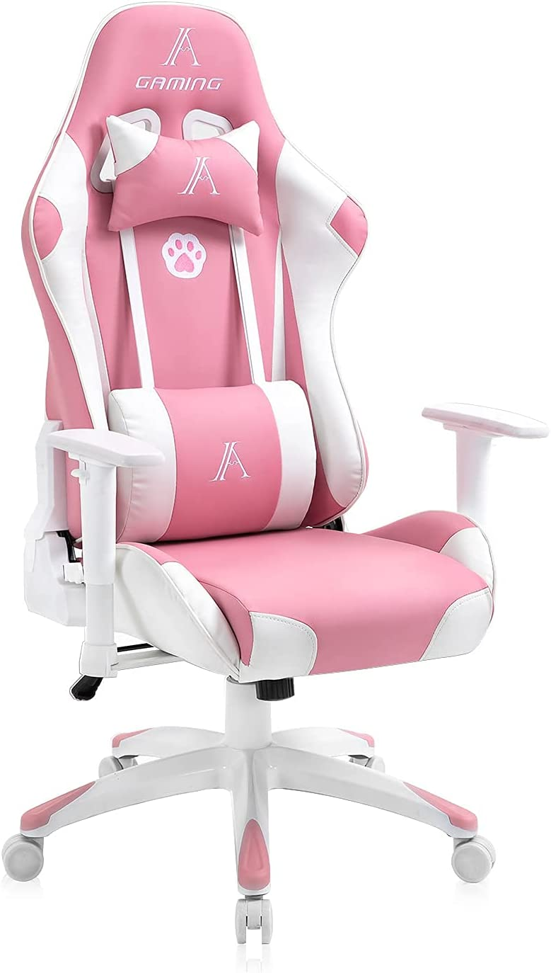 Pink Gaming 1 year warranty Chair for Girls and Racing Style High Back Sw Women Gorgeous