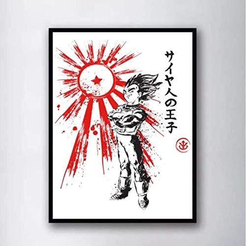 Anime Acuarela Pared Arte Pintura Pared Decoración Lienzo Impresiones Lienzo Arte Cartel Pinturas Al Óleo,Sin Marco 50X70Cm (A-706)