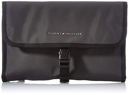 Tommy Hilfiger Men's Elevated Nylon Bag, Pewter Grey, One Size