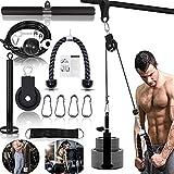 Kabelzug Pulley Fitness LAT Lift Flaschenzug System Professionelle Maschine Muskelkraft Home Gym Fitnessgeräte für Bizeps Curl Unterarm Trizeps (2,5 m Kabel)