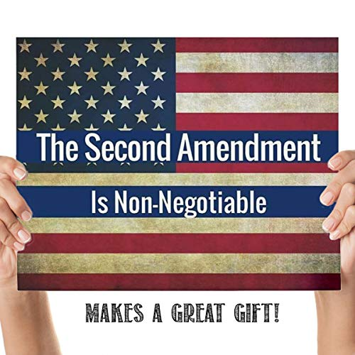'The Second Amendment is Non-Negotiable'-8 x10' Patriotic Wall Decor-Ready To Frame. Pro-Constitutional Poster Print-Distressed American Flag. Decor for Home-Office-Garage-Gun Shop. Great Gift!