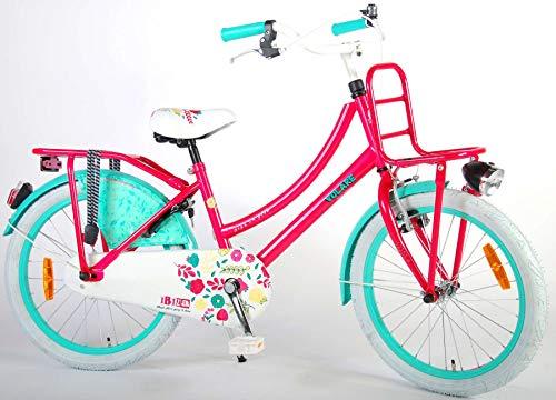 Volare Ibiza Kinderfiets - Meisjes - 20 inch - Rood/Blauw - 95% afgemonteerd