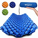 POWERLIX Sleeping Pad - Ultralight Inflatable Sleeping Mat, Ultimate for Camping, Backpacking, Hiking - Airpad, Inflating Bag, Carry Bag, Repair Kit - Compact & Lightweight Air Mattress (Blue)
