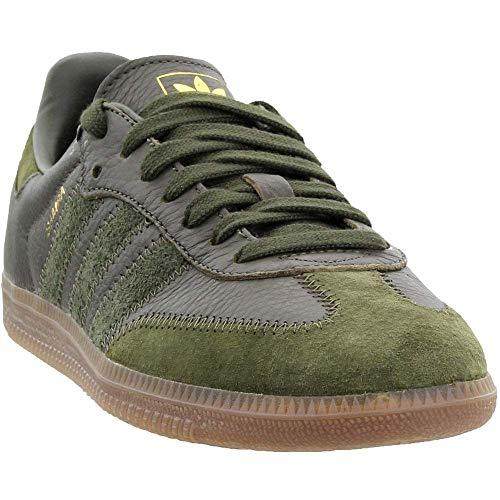 adidas Samba OG FT - Zapatillas para hombre, Verde (Carga nocturna / carga nocturna / metal dorado), 41 EU