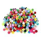 100 peças de bolas de pompom coloridas feitas à mão para crianças no jardim de infância SUPVOX