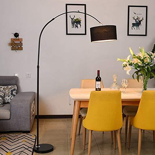 MILUCE Lampara de pie arqueada para mesa de comedor-Modern Fish Line Lampara de pie Luminaria Soporte de luz para sala de estar Decoracion del hogar Lampara de pie Iluminacion adecuada para luces Sala