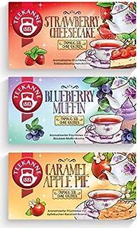 Teekanne Früchtetee Sweeteas 3er Set - Strawberry Cheesecake, Blueberry Muffin, Caramel Apple Pie 3 x 40,5g von Teekanne
