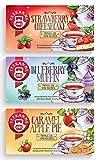 Teekanne Früchtetee 'Sweeteas' 3er Set - Strawberry Cheesecake, Blueberry Muffin, Caramel Apple Pie (3 x 40,5g) von Teekanne