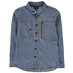 Shirt Long sleeves Button down fastening Decorative pockets Firetrap branding