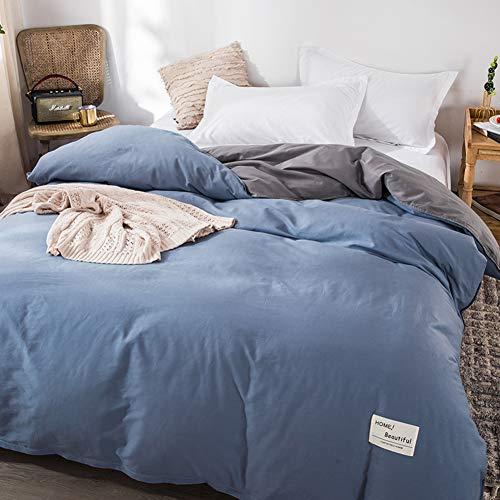 PP&DD Cotton Duvet Cover,Double Single Dorm Quilt Cover,220 * 240 King Breathable Ultra Soft Duvet Cover Set,Bedding Set,1pcs