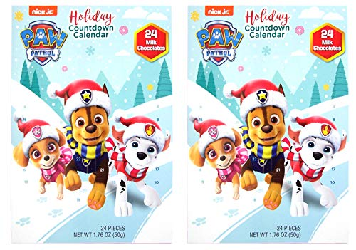 Frankford Paw Patrol Advent Calendar Chocolate Candy Filled Countdown, Set of 2