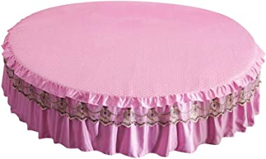 Flameer Premium Textile Bed Skirt Dust Ruffles Machine Washable Bed Wrap with Platform for King Queen Bed - S