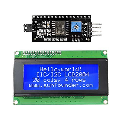 SunFounder IIC I2C TWI Interfaz Serial 2004/20x4 LCD Display Módulo Module Shield para Arduino R3 Mega2560