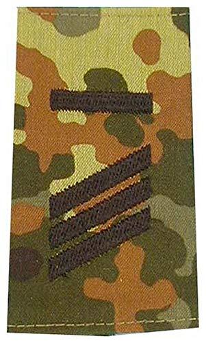 1 Paar Bundeswehr Rangabzeichen Flecktarn/Schwarz Rangschlaufe Rangschlaufen Abzeichen Schlaufe verschiedene Dienstgrade (Hauptgefreiter UA)