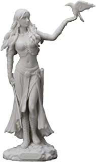 "Veronese Design 11"" Tall Resin Cast Marble Finish Morrigan Celtic Great Queen Irish Goddess of Birth Battle and Death Stat..."