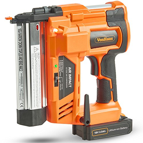 VonHaus Cordless Nail Gun with 18v Battery,...