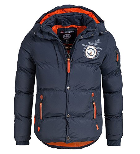 Geographical Norway Herren Winter Steppjacke Parka Verveine Kapuze navy L
