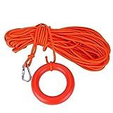 V GEBY Rescue Rope 8mm Nylon Galleggiante Galleggiante Salvavita Barca da Nuoto Nuoto Bagnino Linea di Salvataggio con Anello Galleggiante