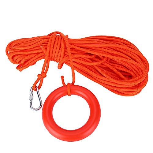 Tenpac Cuerda de Rescate, Cuerda de Salvavidas portátil Resistente con Bucle Flotante Flotante para Nadar