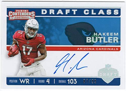 Hakeem Butler 2019 Panini Contenders Draft Class Rookie On Card Auto Serial #87/99 Arizona Cardinals Autograph