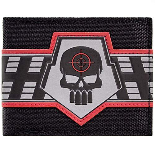 Cartera de DC Comics Deadshot Logotipo de Skull Target Negro