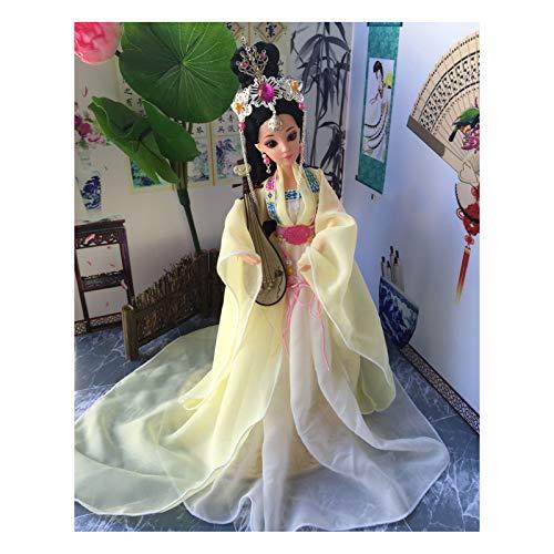 Siunwdiy Puppe Kostüm Alte chinesische mit orientalischer Seidenpuppensammlung, Dekorationen und Dekorationen Büroregale, 011,30CM