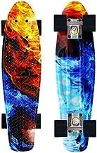 Merkapa Complete 22 inch Cruiser Skateboard for Youth, Beginners (Starry Sky)