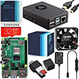 Vilros Raspberry Pi 4 Complete Starter Kit with Fan-Cooled Heavy-Duty Aluminum Alloy Case (4GB RAM, Black Case)
