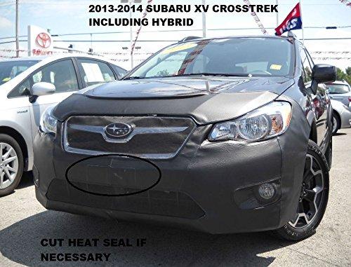 Lebra 2 piece Front End Cover Black - Car Mask Bra - Fits Subaru XV Crosstrek Including Hybrid 2013 2014 2015