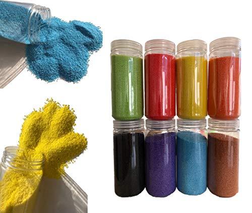 Grande selezione di sabbia decorativa 620 G Granulate Sabbia di colore sabbia diffusore granulato da tavolo decorazione vasi ciotole rosa rosso blu verde nero, bianco