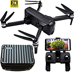 F11 pro Motor Brushless RC Quadcopter Drone with 2K 2592*1520P 5GHz WIFI FPV HD Camera. Record in phone APP Resolution is 720P.[Powerful Performance] Upgrade adjustable 5G Wi-Fi FPV camera, 2K video recording, 4K photo resolution, GPS smart return, o...