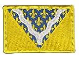 Aufnäher Patch Flagge Frankreich Val-de-Marne - 8 x 6 cm